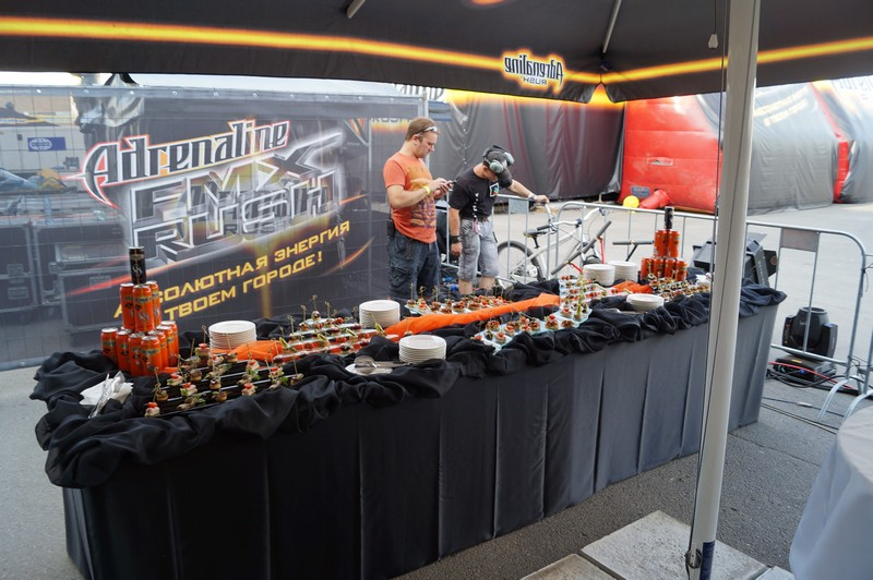 Кейтеринг на акции Adrenalin FMX Rush, Казань, июль 2014