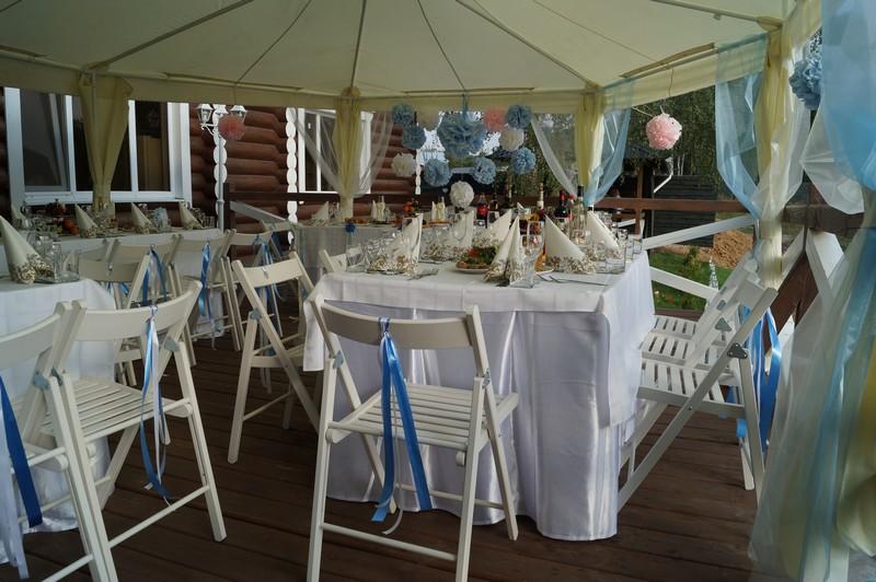 Свадебный банкет и сладкий стол (Candy Bar) на веранде, август 2014
