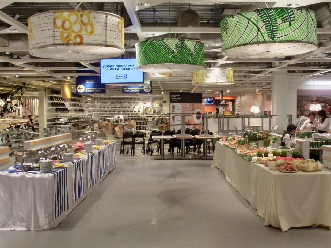 IKEA, кейтеринг на корпоративном мероприятии, по заказу Imagine Group, август 2015