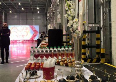 Кейтеринг на открытии РЦ Пятерочка в Казани, с участием Президента РТ, ноябрь 2019