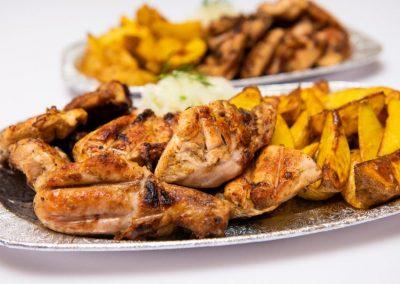 Шашлыки в стол (куриный шашлык)