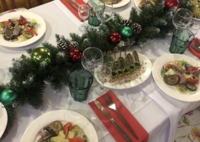 Банкет в классическим рождественском стиле, декабрь 2020