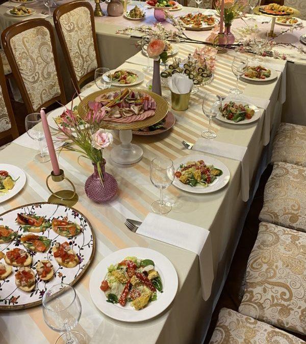 Банкет Ужин в честь дня рождения девушки, апрель 2021
