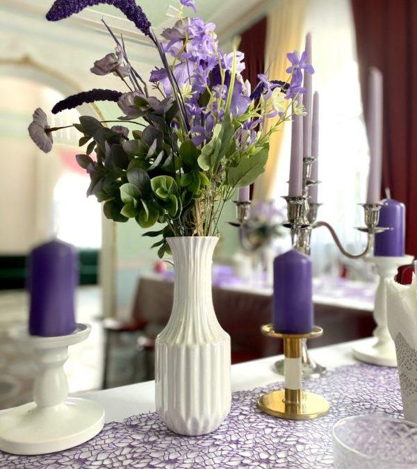 Банкет Свадебный в фиолетовых тонах, май 2021