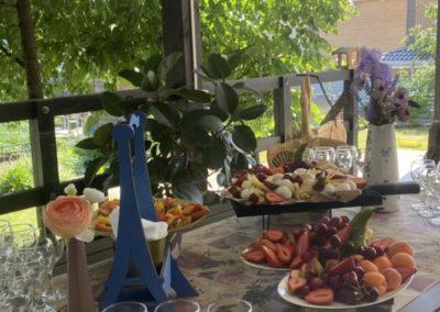 Банкет, фуршет на ужине в честь Дня Рождения, июнь 2021