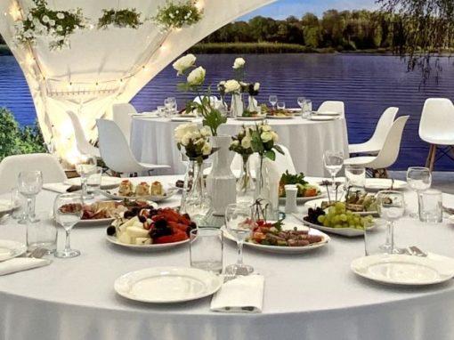 Банкет Ужин в загородном шатре доя бизнес-партнеров, июль 2021