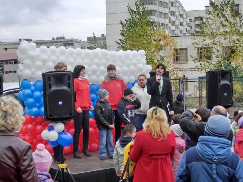 Фуршет на открытии детской площадки от Таттелеком, октябрь 2011