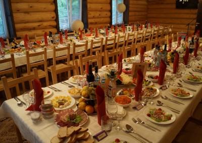 Свадебный банкет в честь торжества Максима и Марины, сентябрь 2013