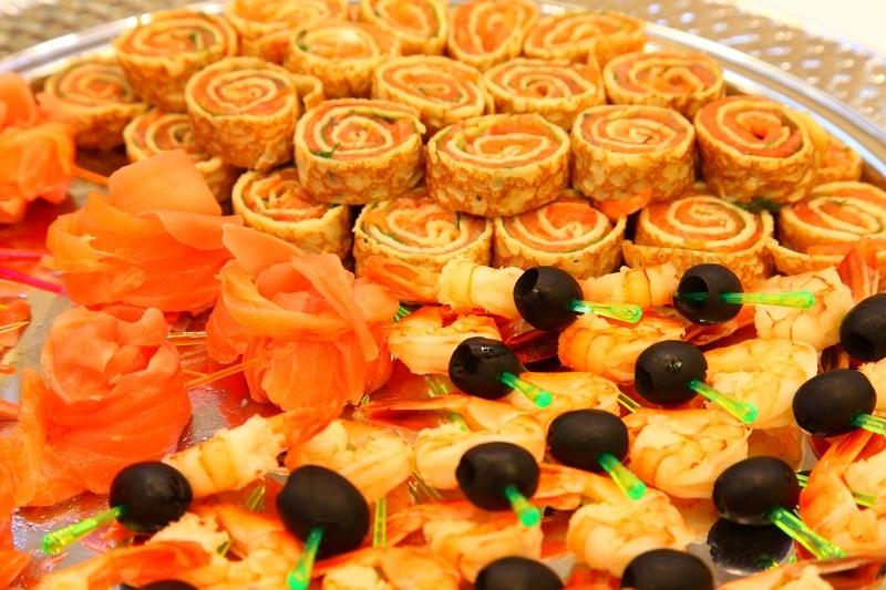 Фуршет на вечеринке журнала Все о Свадьбе, май 2011